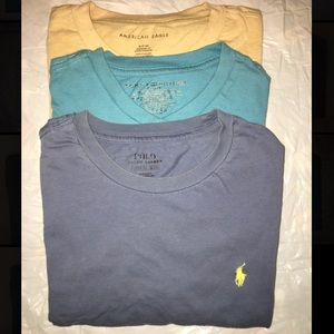 Polo, American Eagle, and Tommy Hilfiger shirts
